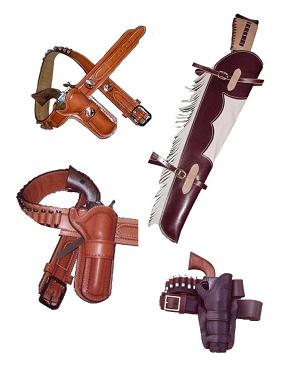 Custom made holsters & gun belts/ rifle scabbards
