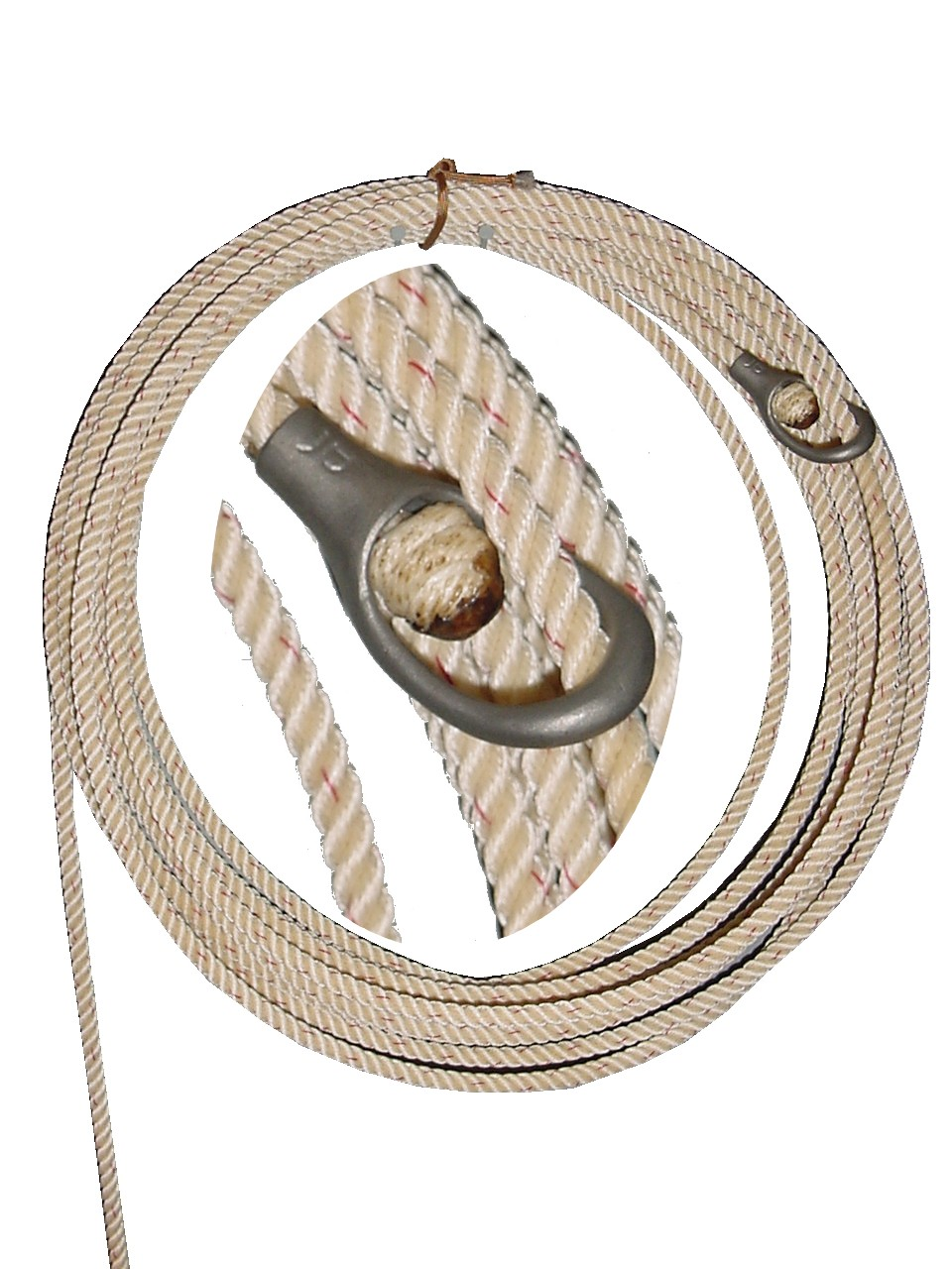 Ranch Rope, Poly blend, 40 & 50 foot/ custom lengths, Metal or rawhide honda